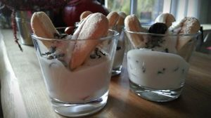 tvarohový dezert ve skleničce